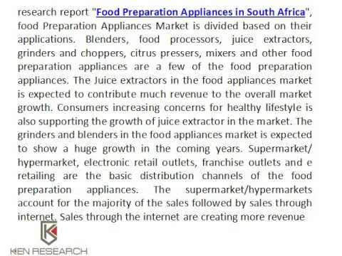 South African Food Appliances Market Research Report - Ken Research