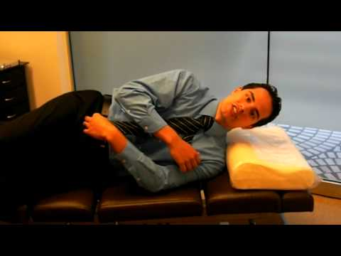 Side Sleepers How to use a Cervical Pillow  YouTube