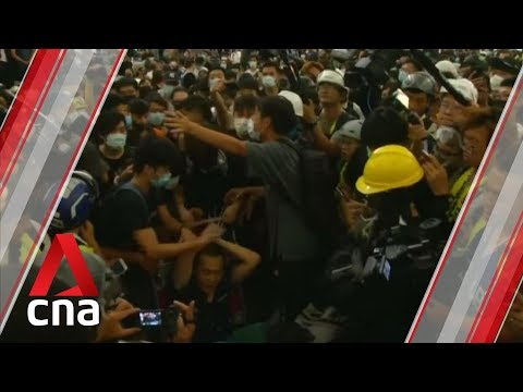 China condemns actions of protesters at Hong Kong airport