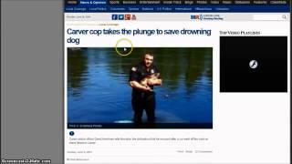 Massachutes Officer's Plunge Saves Dog - 103