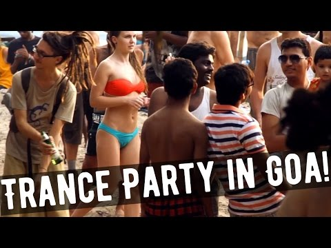 TRANCE BEACH PARTY in GOA! Arambol - psychedelic trance party in Arambol - near Sweet Lake