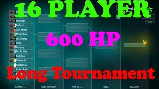 ShellShock Live 16 PLAYER 600 HP TOURNAMENT! LONG!