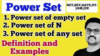 Power set definition and examples|power set of empty set|Power set of Natural number|Power set