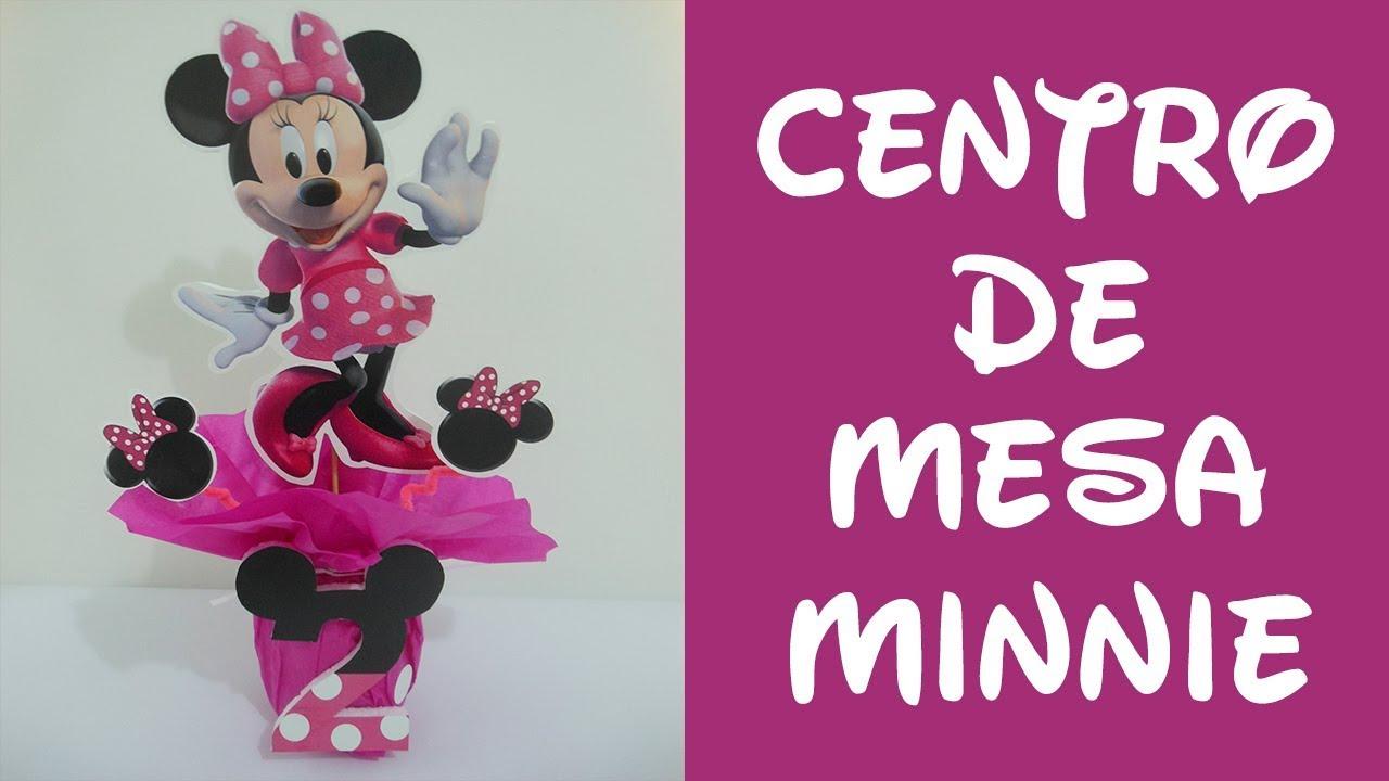 Centro De Mesa Minnie Mouse Centerpiece Minnie Mouse Youtube
