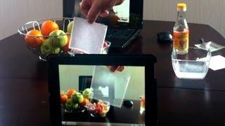 Камера iPad видит сквозь бумагу. Скрытые возможности.