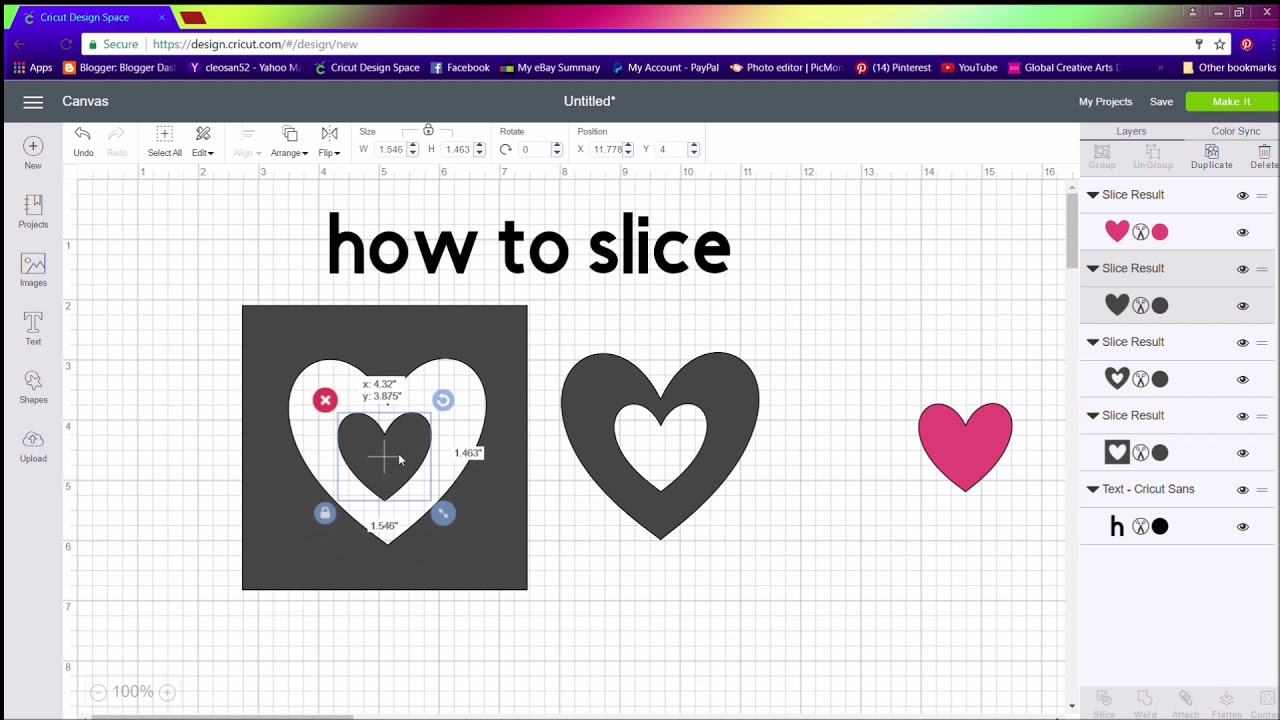 How To Slice In Design Space 3 Youtube
