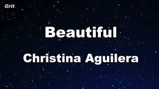 Beautiful - Christina Aguilera Karaoke 【No Guide Melody】 Instrumental