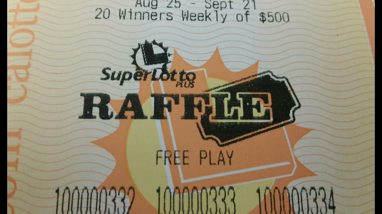 Ca lottery results raffle prizes