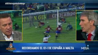 Buyo y el 'Lobo' Carrasco reviven el histórico España 12-1 Malta