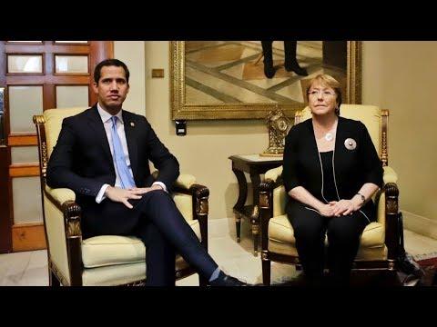 Guaidó se reunió con Bachelet en el Palacio Federal Legislativo