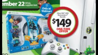 NEW Xbox 360 Slim (White 4GB) Skylanders Spyros Adventure Bundle Unboxing (Black Friday 2012)