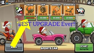 Hill Climb Racing 2: BEST UPGRADE EVER! ROAD TO MAX SPORTS CAR ENGINE PART 1