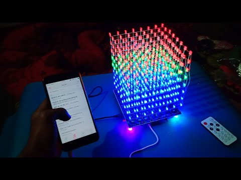DIY WIFI 8x8x8 3D LED Cube. it's music Reactive LED cube