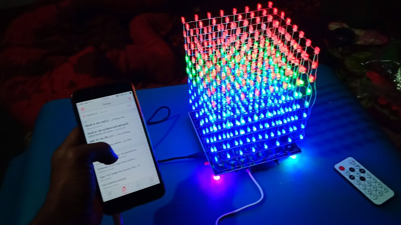 2019 New Style Claite 8x8x8 Led Light Cube Kit Shell Case 3d Led Diy Wifi App Electronic Suite 512 Led Acrylic Case Music Spectrum Advertising Lights