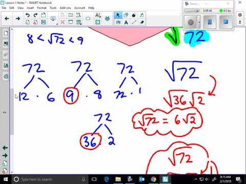 (GEO) U11 Lesson 1 Notes (Reducing Radicals)