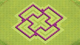 Clash of Clans Town Hall 6 Defense BEST CoC TH6 Hybrid Base Layout Defense Strategy