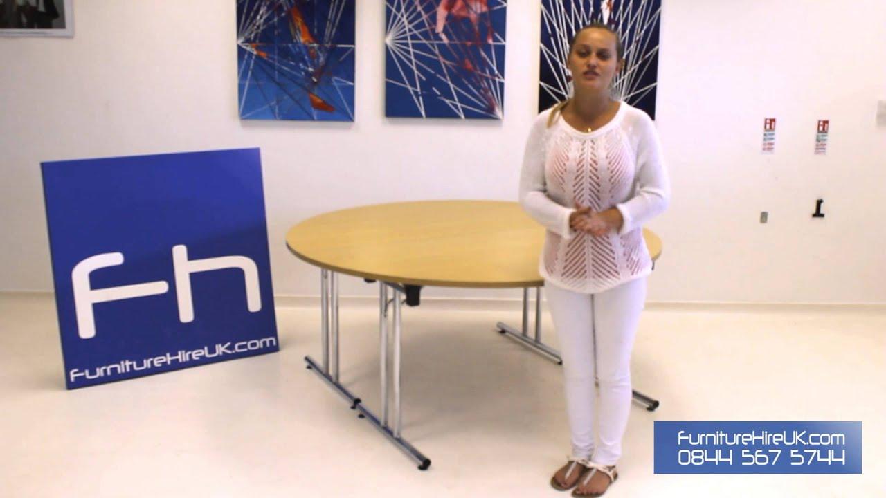 Circular Meeting Room Table Demo - Furniture Hire UK
