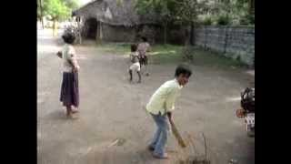 Kids playing Cricket in streets