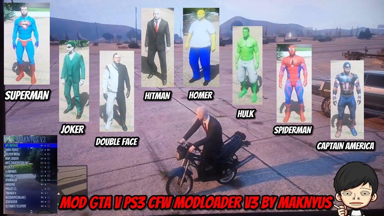 MOD GTA V 5 PS3 MODLOADER by MAKNYUS V3 CFW