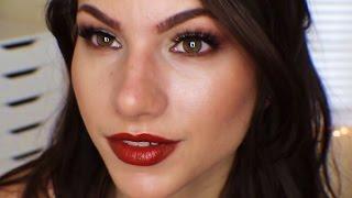 Vampy Lips & Soft Smokey Eyes | Makeup Tutorial