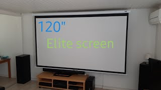 Manual elite screen 120 inch install