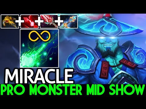 Miracle- [Storm Spirit] Are You Ready for M-God Show Real Monster Mid 7.22 Dota 2