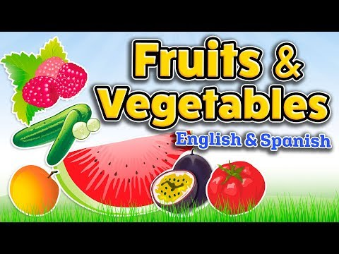 Fruits And Vegetables In English And Spanish - Bilingual Vocabulary