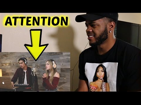 Attention by Charlie Puth | Alex Aiono and Sabrina Carpenter Cover REACTION!!