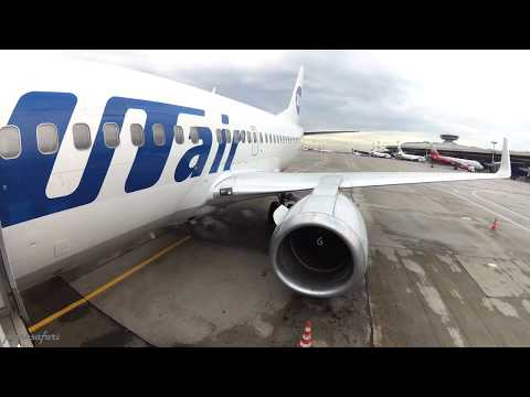 Boeing 737-500 Winglets - from Vnukovo to Pulkovo with UT Air in 4K