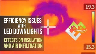 Efficiency issues with LED Downlights. Effects on Insulation & air infiltration