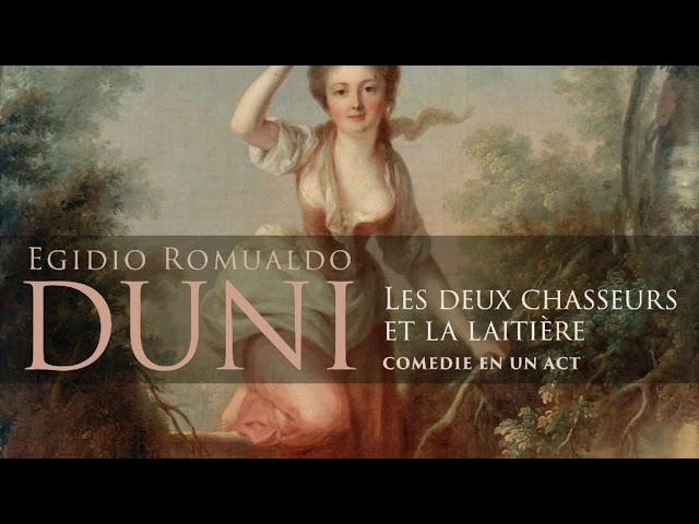 Duni: Les deux Chasseurs et la Laitière, Ouverture, Accademia dell'Arcadia, Roberto Balconi