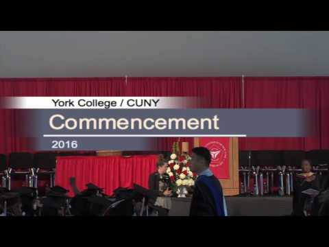 York College's 46th Commencement Exercises (2016)