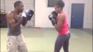 Private Boxing Lesson With Jet Beauty/ Pro Model Jazzmin Brown / Marshall Thompson/Unknown Warrior