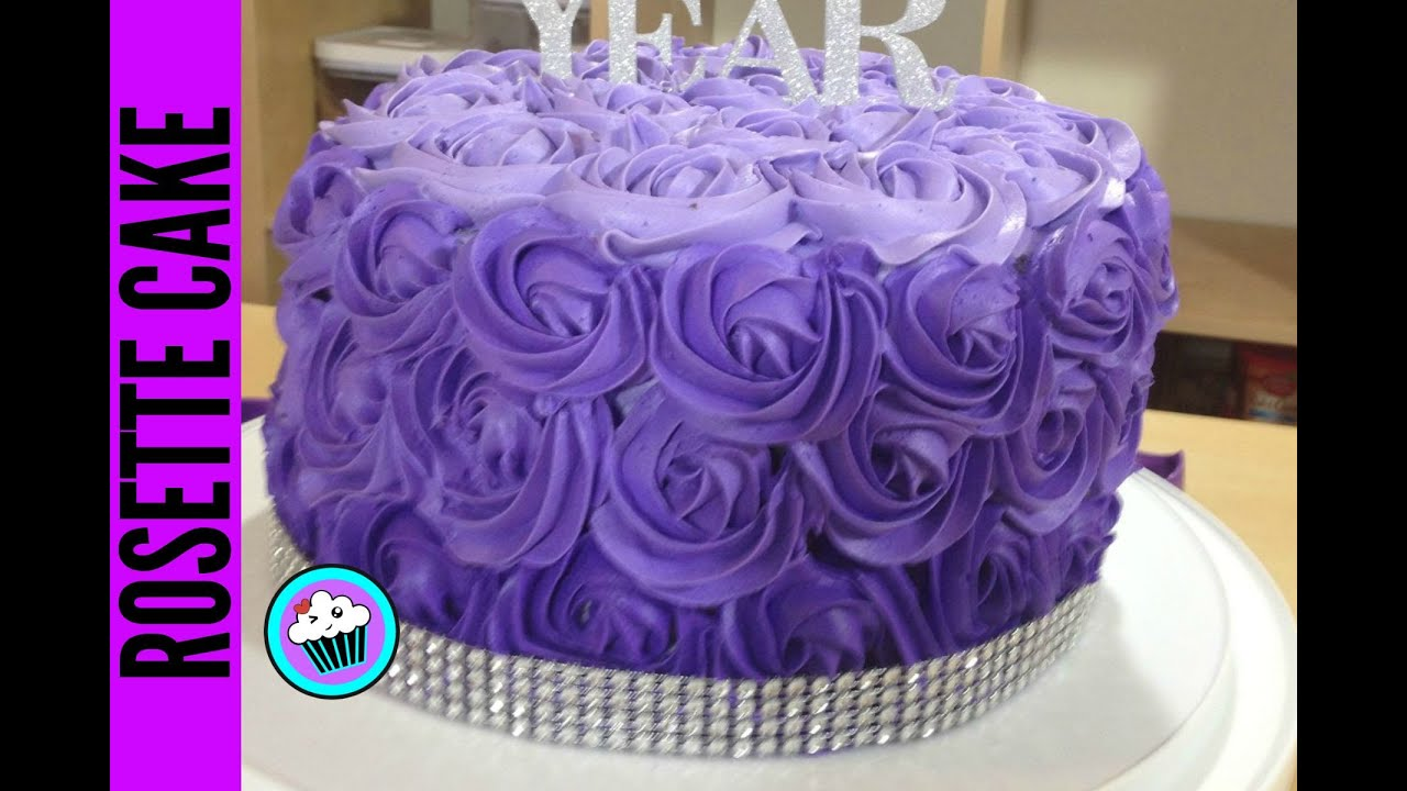 How To Make Ombre Rosette Cake Pinch Of Luck Youtube