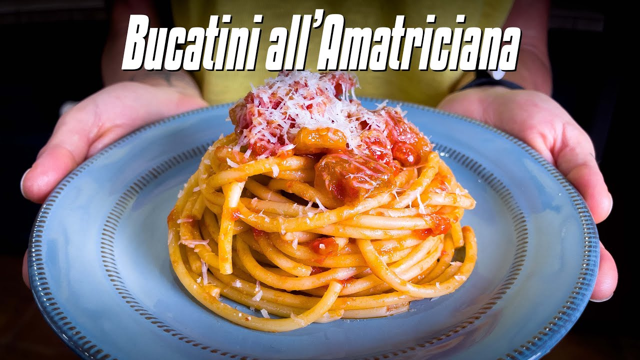 How to Make BUCATINI ALL'AMATRICIANA   Pasta All'Amatriciana Recipe