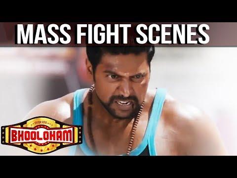 Bhooloham Mass Fight Scenes   Jayam Ravi   Trisha Krishnan   Prakash Raj   Super Fight Scenes