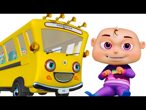 Thumbnail: Wheels On The Bus With Five Little Babies | Nursery Rhymes Compilation | Zool Babies Fun Songs