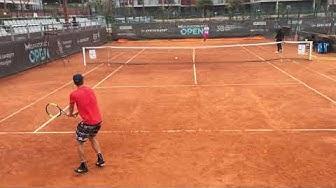 Holger Rune vs. Kristjan Tamm #tennis #pratice, 08.05.2019