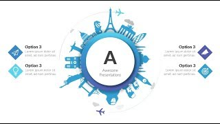 Animated Travel slide. Powerpoint tricks