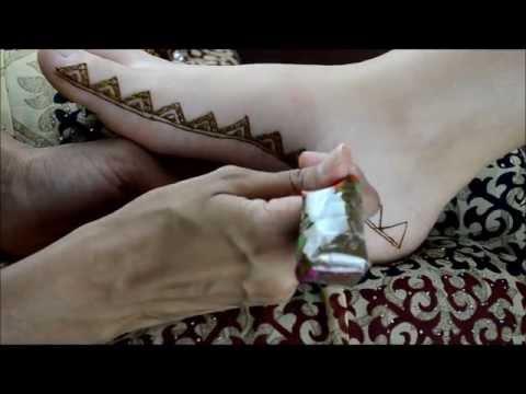 Moroccan Inspired Henna Foot Border Design by Marvelous Mehndi