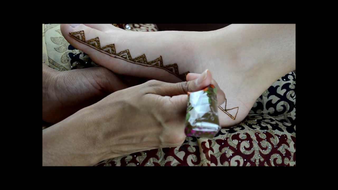 Moroccan Inspired Henna Foot Border Design By Marvelous Mehndi Youtube