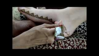 Moroccan Inspired Henna Foot Border Design by Marvelous Mehndi