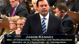 Minister Kenney Answers a Question About the Faster Removal of Foreign Criminals Act