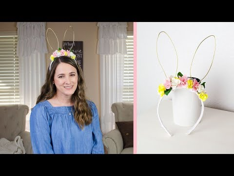 DIY FLORAL HEADBAND WITH BUNNY EARS FOR EASTER | SIMPLY DOVIE