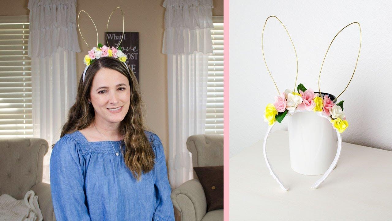 Diy Floral Headband With Bunny Ears Simply Dovie Youtube