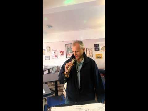 Nigel Jones on karaoke as  Elvis Presley