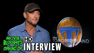 Tomorrowland (2015) Behind the Scenes Movie Interview - Tim McGraw (Eddie Newton)