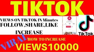 How to get views on tiktok in Minutes   Increase views & likes on tiktok   viral any tiktok videos
