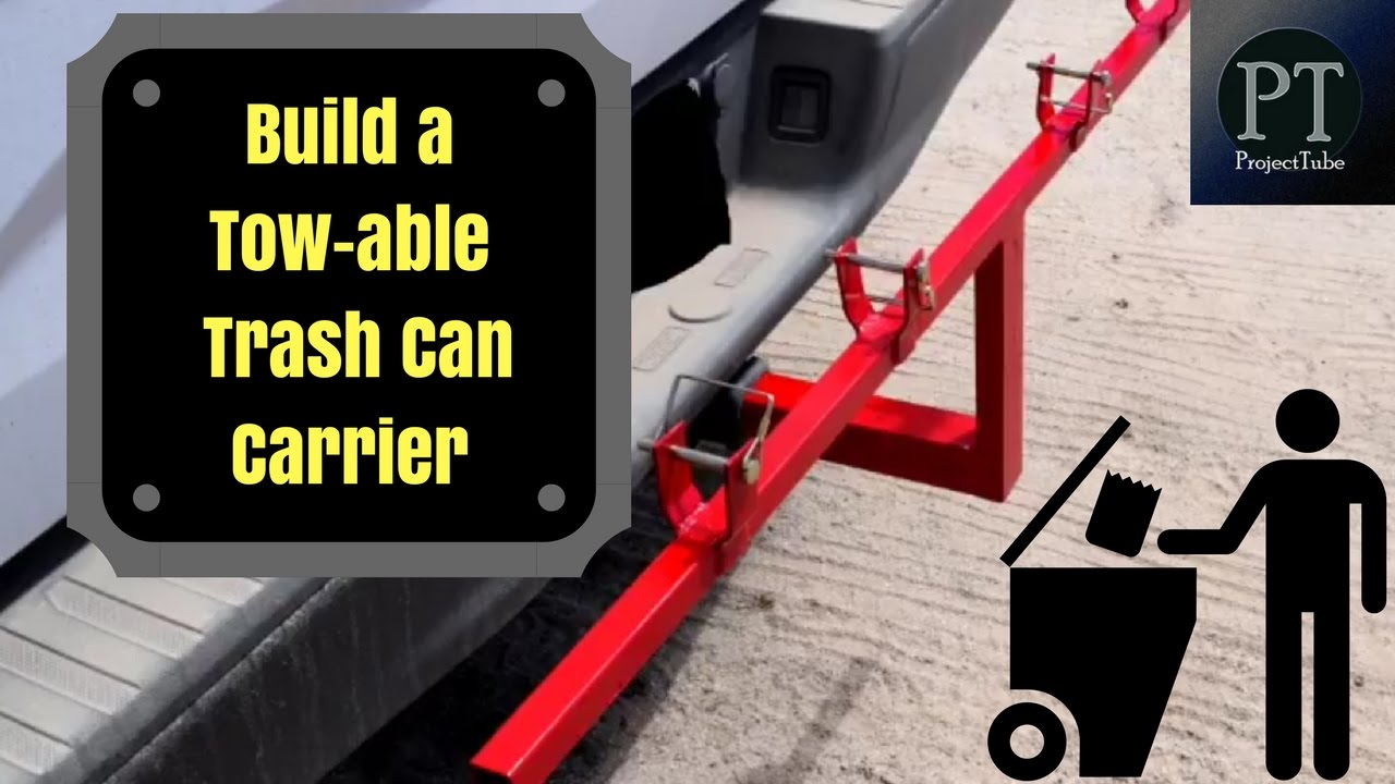 How to build a tow hitch mounted carrier for your trash