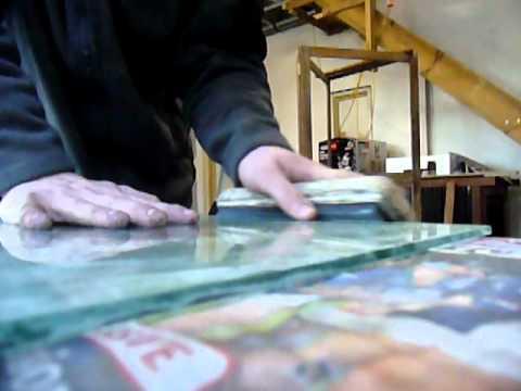 Polishing Glass Edges By Hand Youtube